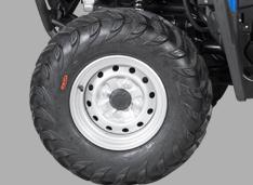 Колеса 25 дюймов с грязевым протектором на стальных дисках