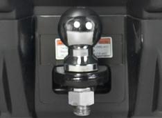 Петля фаркопа с металлическим шаром и розетка для прицепа