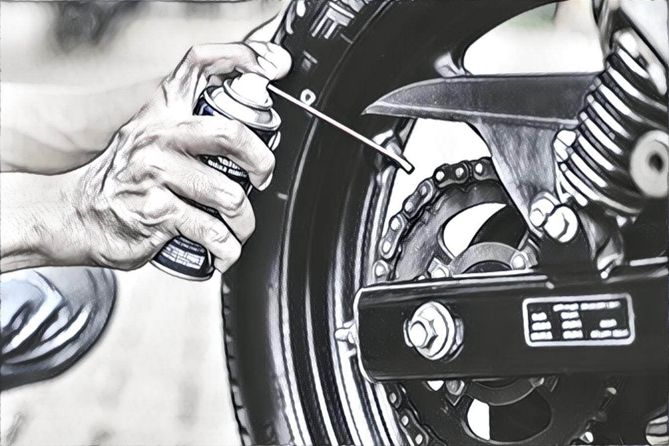 Смазка цепи мотоцикла