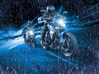 Езда на мотоцикле в дождь
