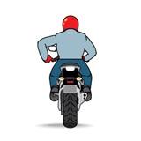 Знак заправки мотоциклист