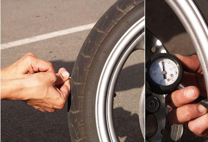 Ремонт шин мотоцикла своими руками