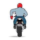 Знак остановки мотоциклист