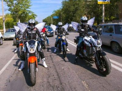 Правила езды на мотоцикле в колонне