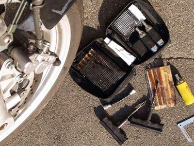 Ремонт шин мотоцикла в дорожных условиях