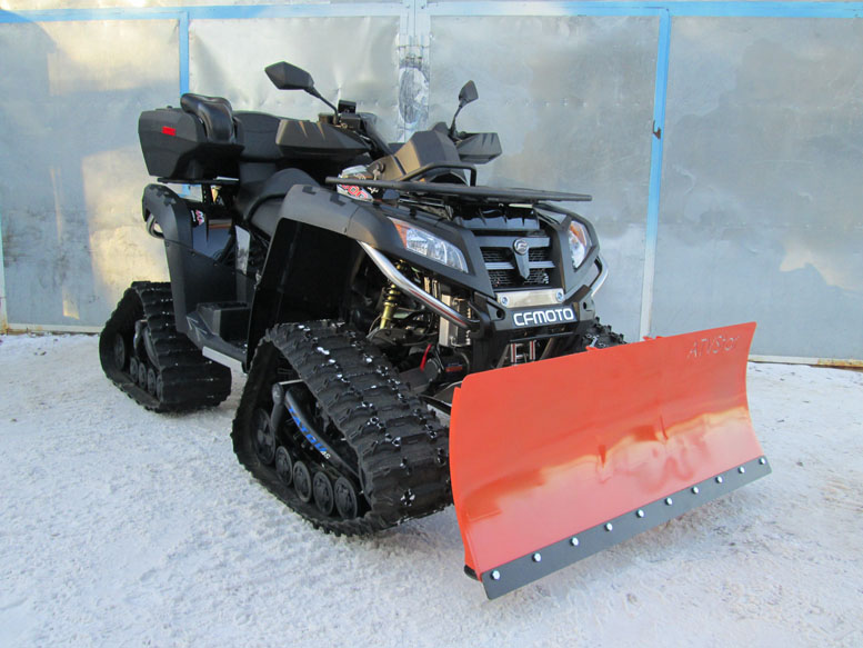 Уборка снега квадроциклом или мотовездеходом