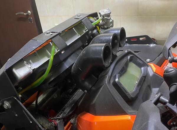 Зачем выносят радиатор на квадроцикле